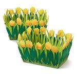 Filzkörbchen Tulpen 2 Stück