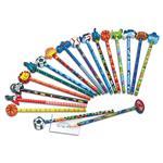 Bleistift und Radiergummi 18 Stück Boy Power