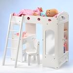 Puppenhochbett mit Kasten