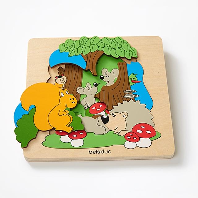 Mehrlagenpuzzle Wald