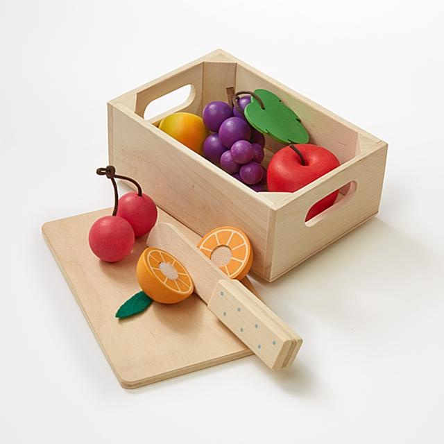 Holz Früchte 6tlg.