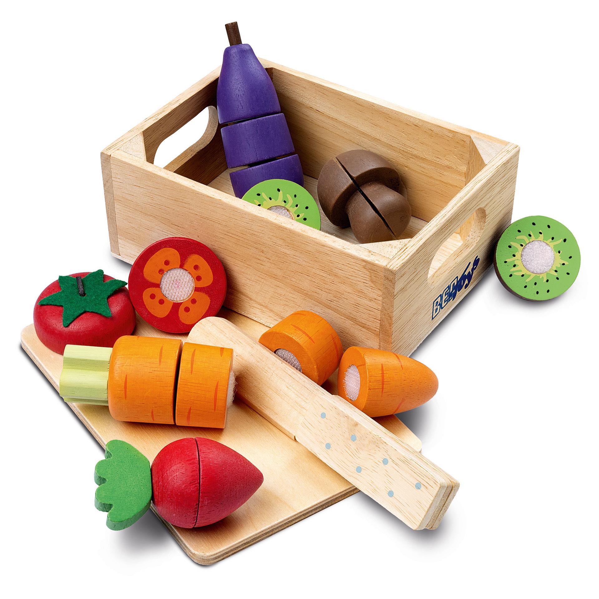 Holz Gemüse und Früchte 6tlg.
