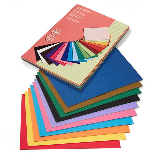 Fotokarton farbig 80 Blatt
