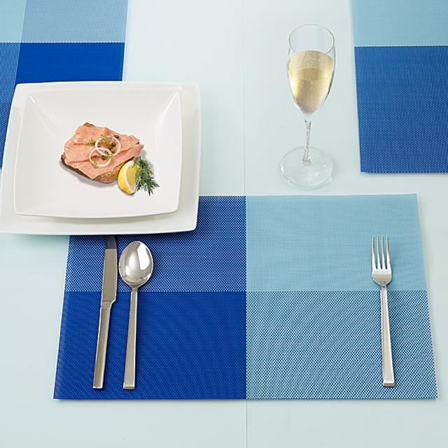 Tischset Blue Quadro Art Design 6tlg.