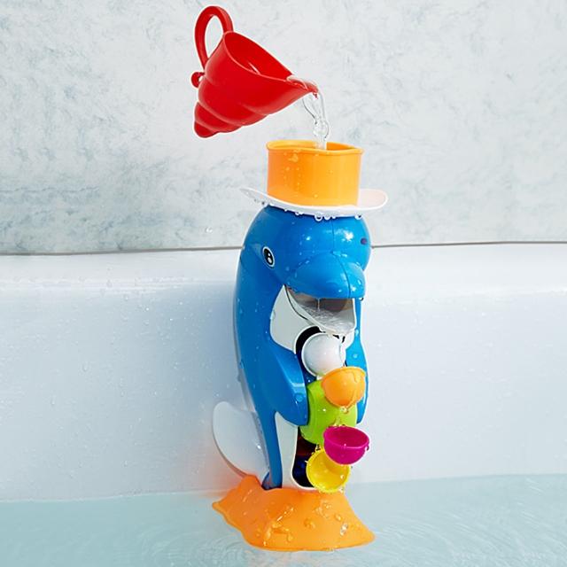 Badespielzeug Delfin Wassermühle
