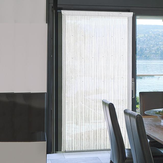 Fadenvorhang weiss 90x240 cm