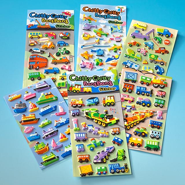 3D Stickers Fahrzeuge 100tlg.