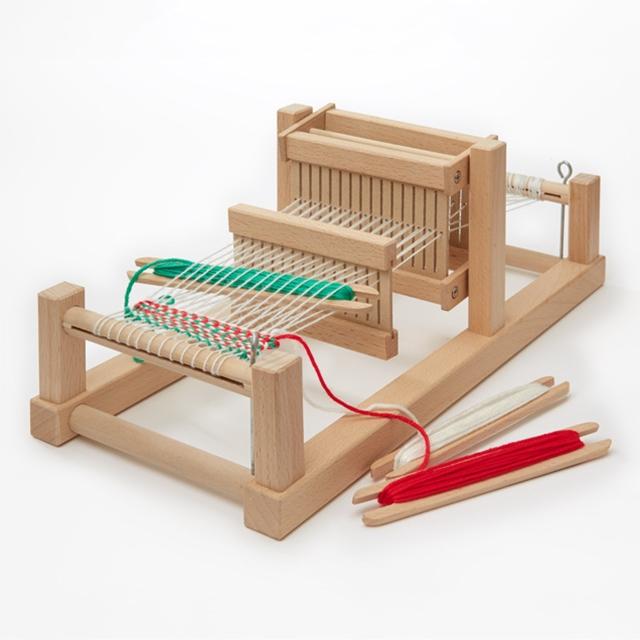 Grosser Holz-Webstuhl