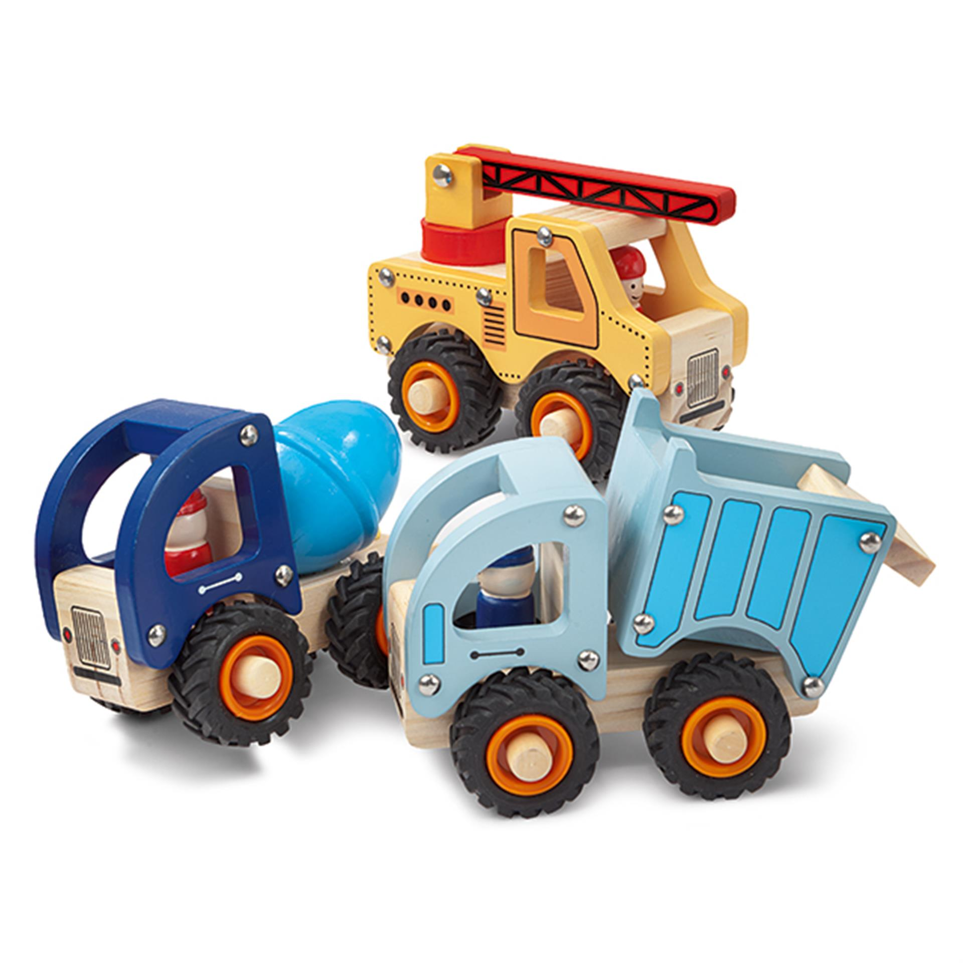 Baustellen Spielfahrzeuge 3 Stk.