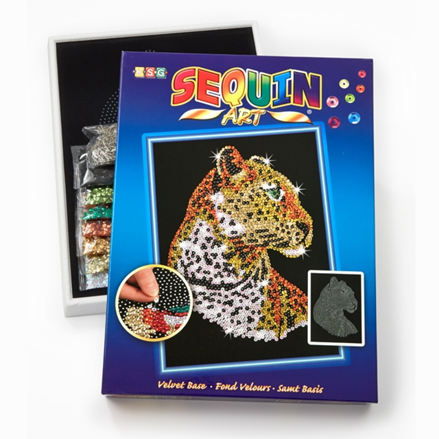 Sequin Art Leopard