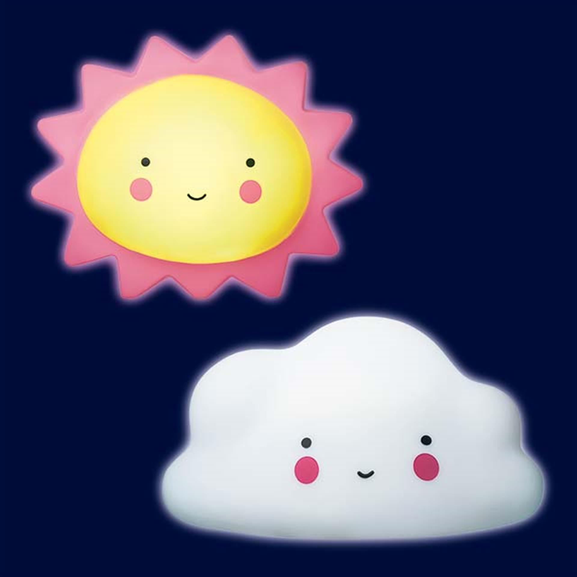 Nachtlicht Sonne und Wolke 2 Stk.