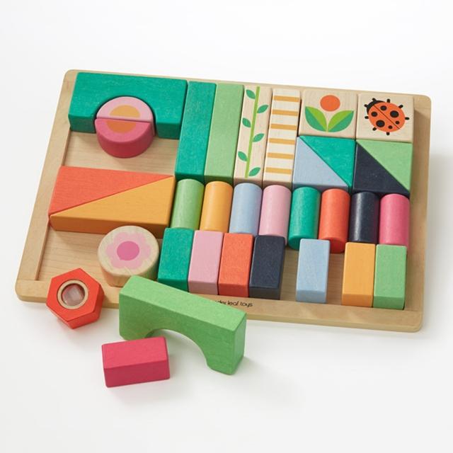Holz Bausteine farbig 34tlg. Tender Leaf Toys