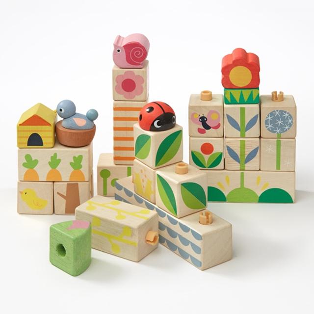 Bausteine zum Stecken 24tlg. Tender Leaf Toys