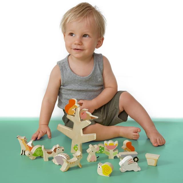 Stapelspiel Holz Tiere 15tlg. Tender Leaf Toys