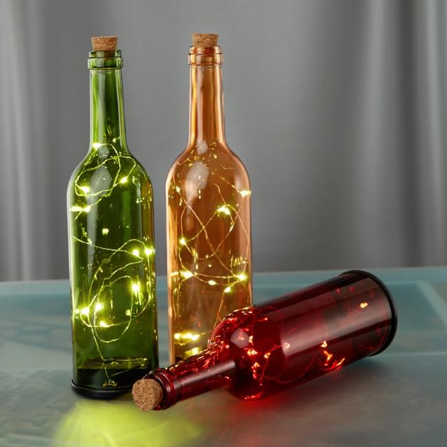 Weihnachts-Dekorflaschen LED 3 Stk.