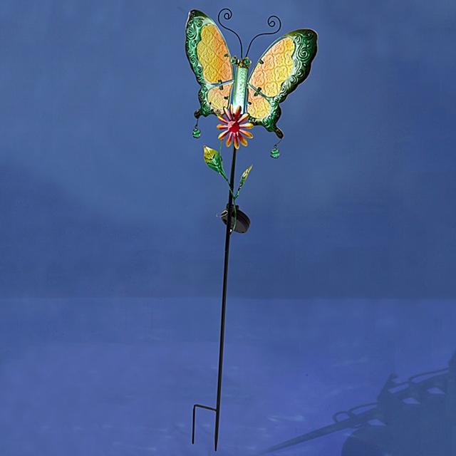 Solarlicht Stecker Schmetterling gelb