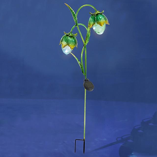 Solarlicht Stecker Blumen Grün