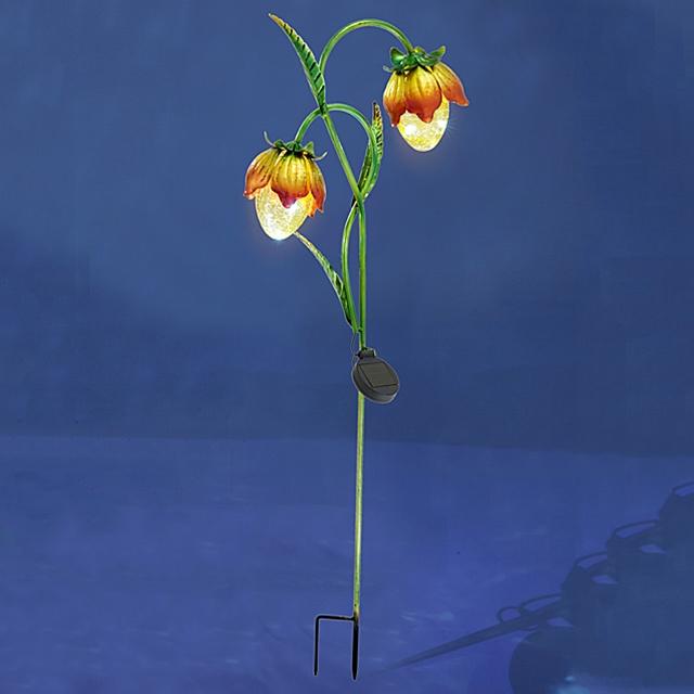 Solarlicht Stecker Blumen Orange