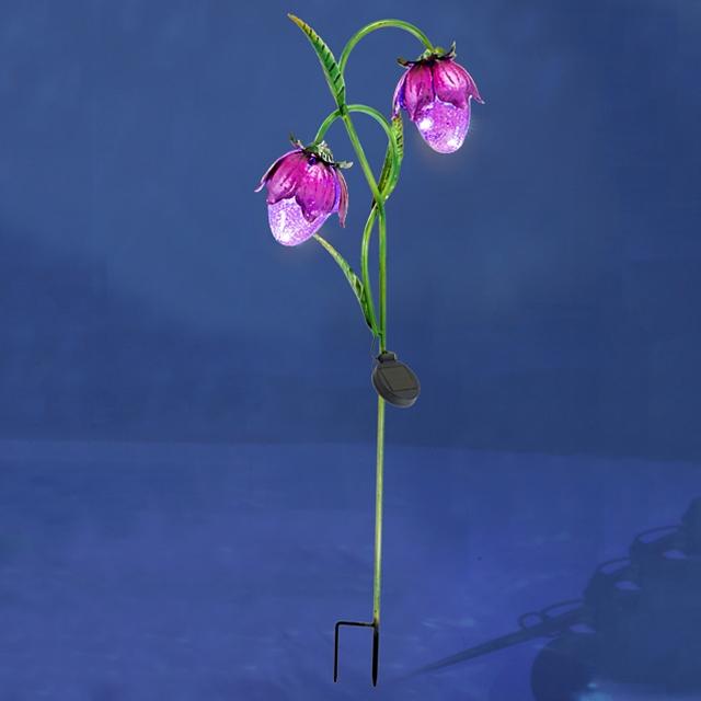 Solarlicht Stecker Blumen Violet