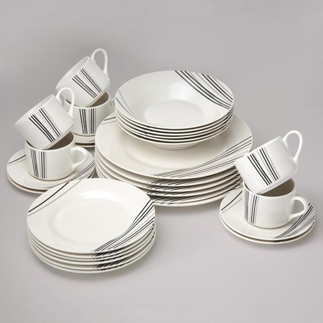 Ensemble de vaisselle Line-Art, 30 pces