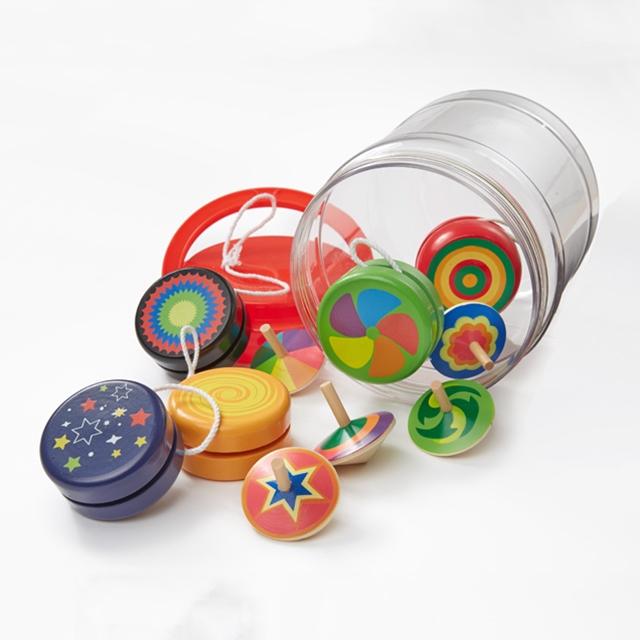 Yo-Yo und Kreisel Set 10tlg.