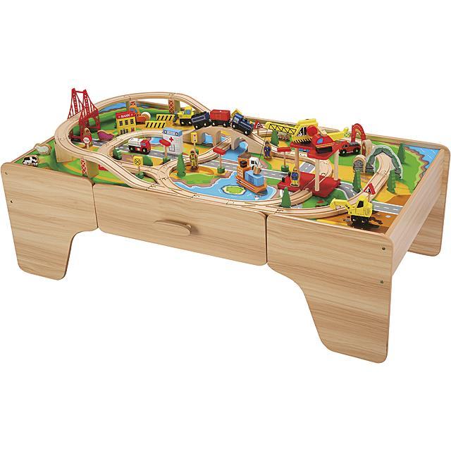 Spieltisch Holzeisenbahn Premium