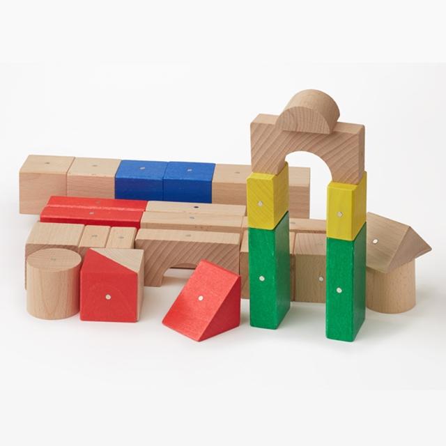 Magnetische Holzbausteine 30tlg.