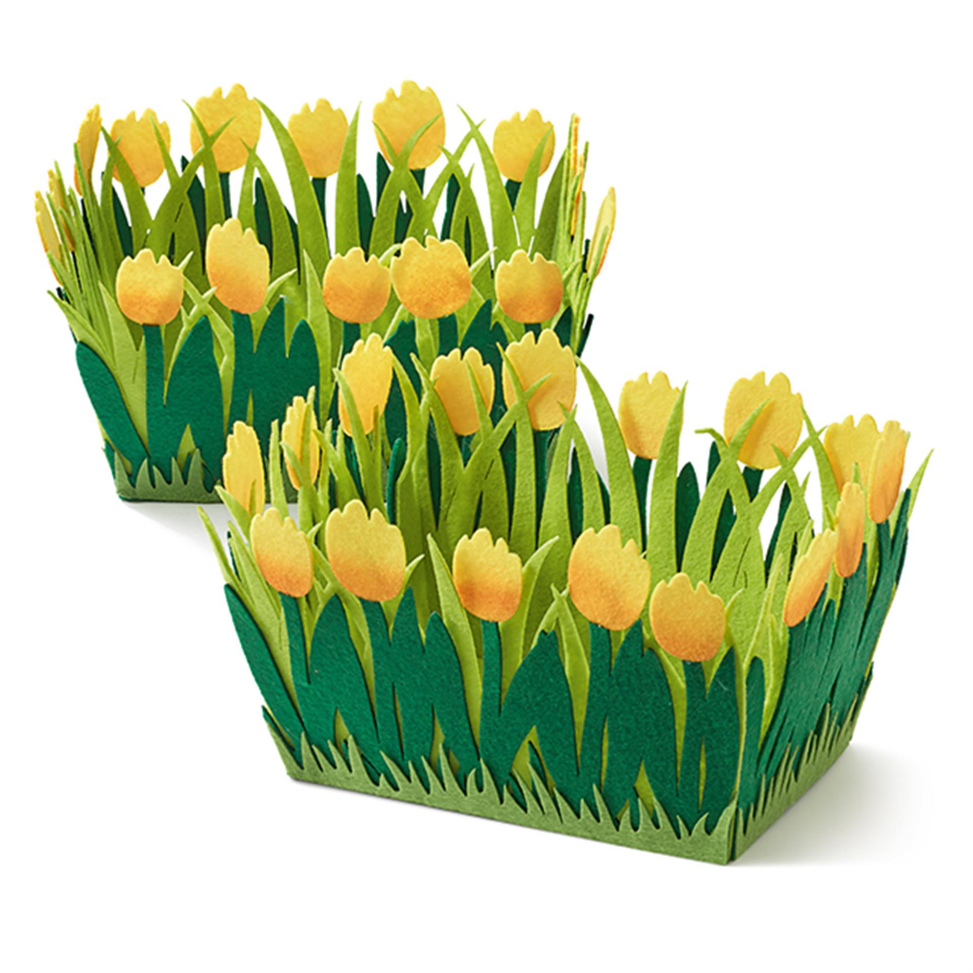 Filzkörbchen Tulpen 2 Stk.