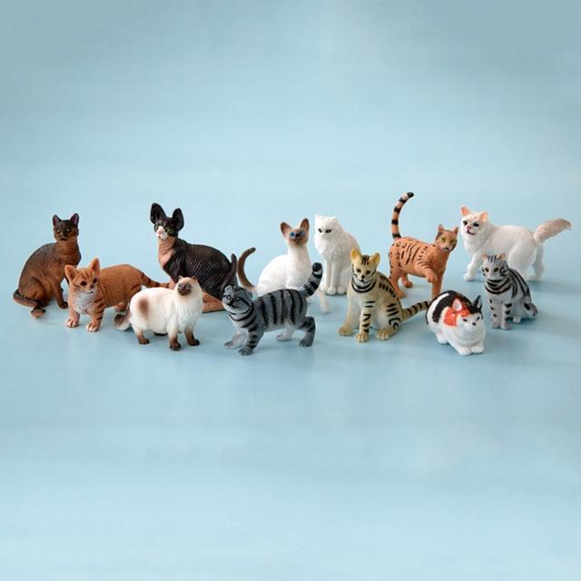 Tierfiguren Katzen 12tlg.