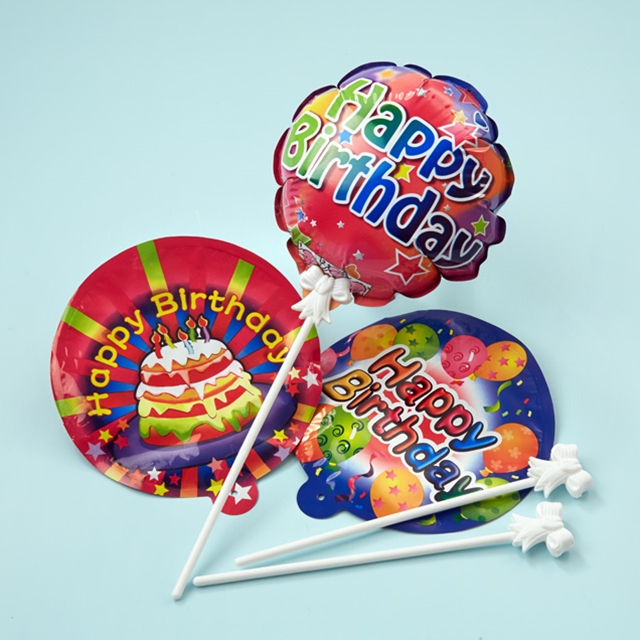 Selbstaufblasende Ballons Happy Birthday 6 Stk.