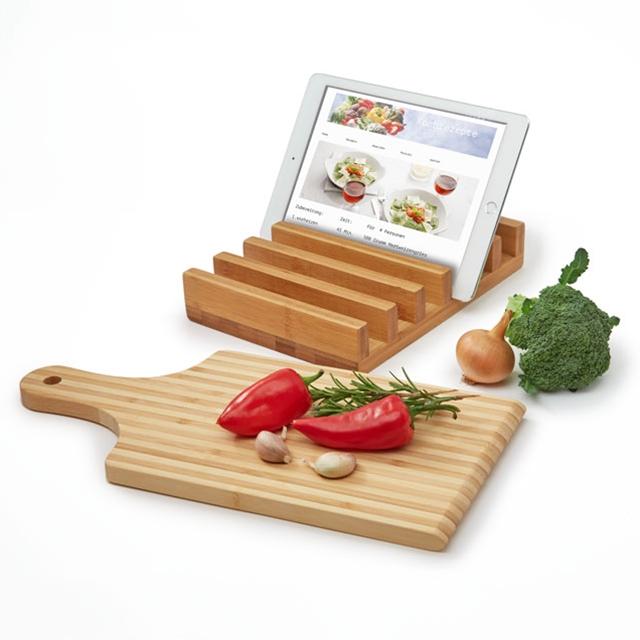 Gourmet Tablet Halterung mit Schneidebrett
