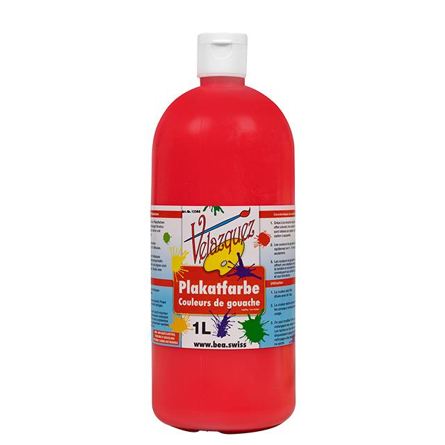 Plakatfarbe rot 1 Liter