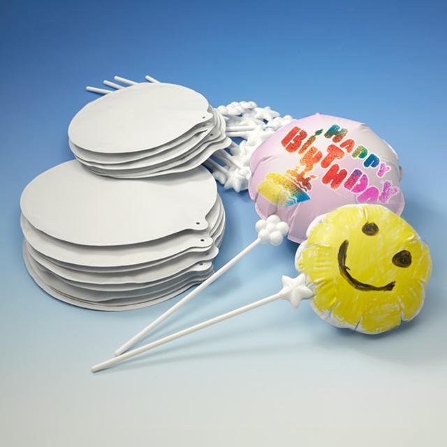 Selbstaufblasende Ballons zum Bemalen 18 Stk.