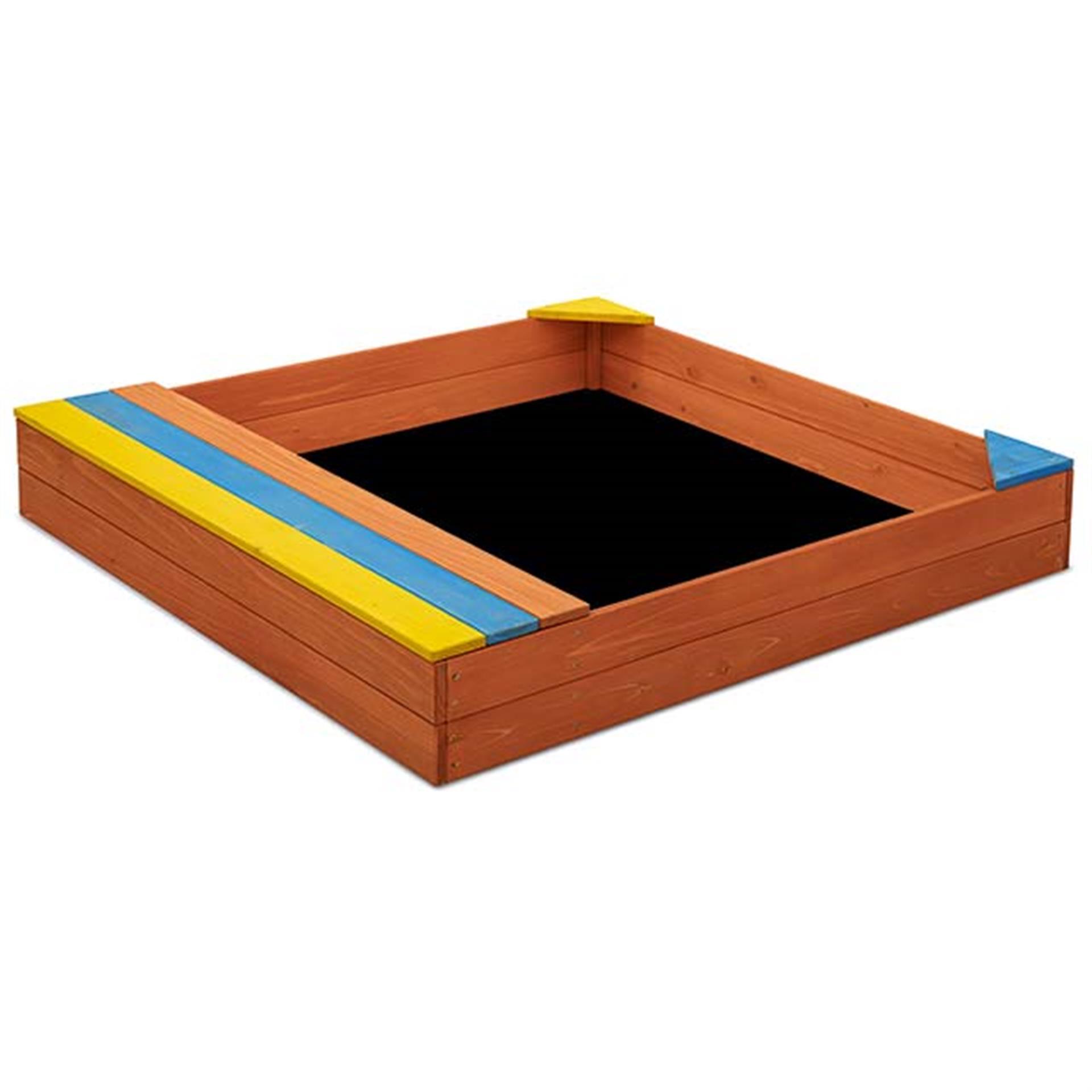 Sandkasten Holz 102x96x15 cm