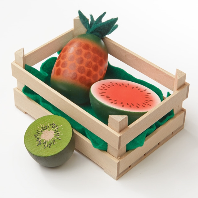 Holz Ananas, Melone, Kiwi