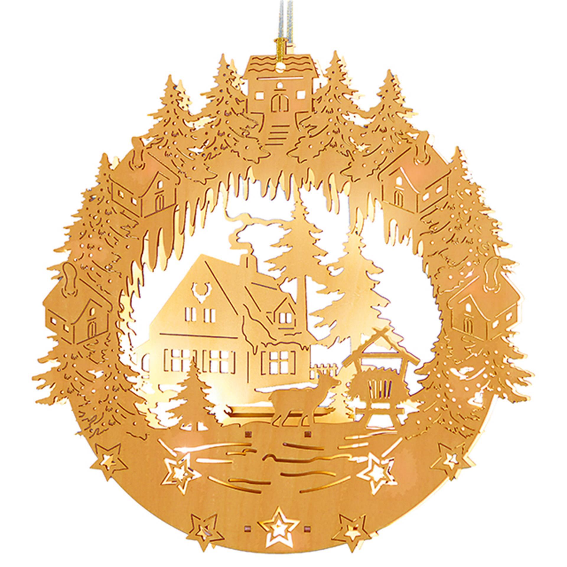 Weihnachtsleuchtbild Waldweihnacht