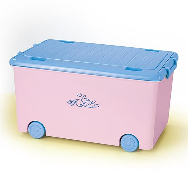 Spielzeugkiste Häsli rosa