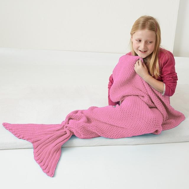 Meerjungfrau Decke pink