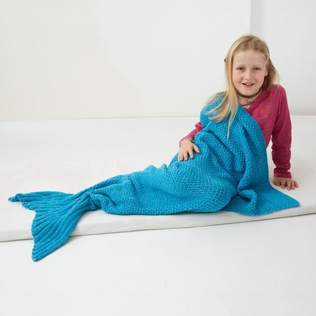 Meerjungfrau Decke blau
