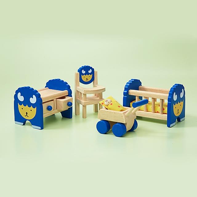 Puppenhaus Babyzimmer Möbel 5tlg.