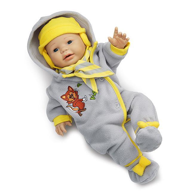 Puppen Winterstrampler 4tlg. BL