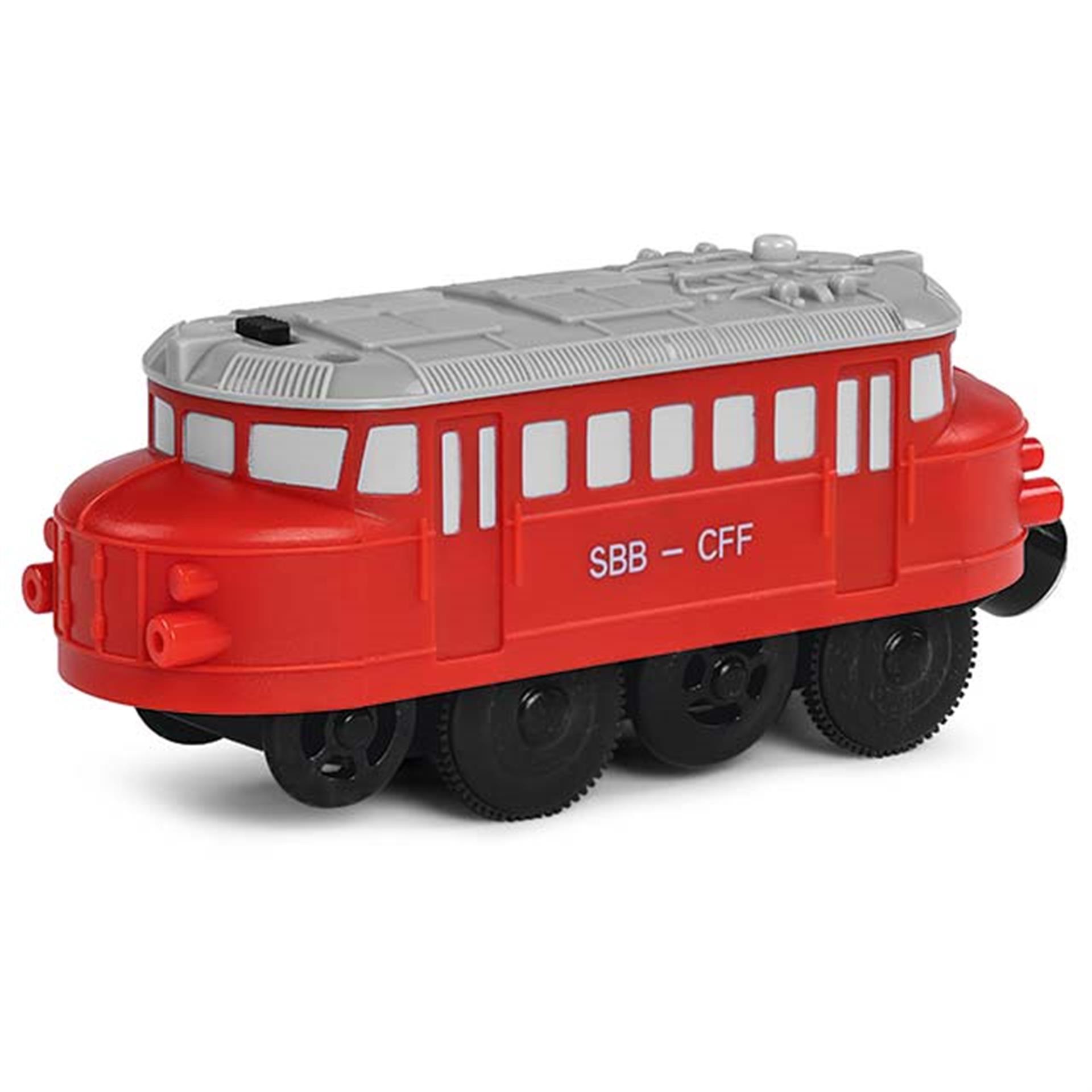 Roter Pfeil für Holzeisenbahn