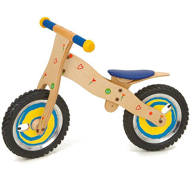 Laufrad aus Holz Color Kids