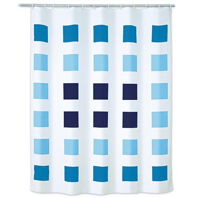 Duschvorhang Blue Cubes
