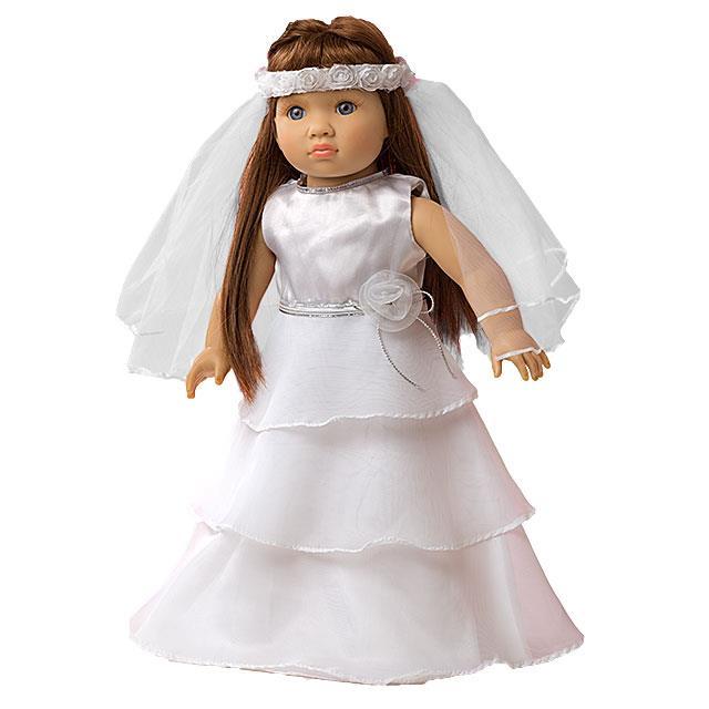 Puppen Brautkleid HL