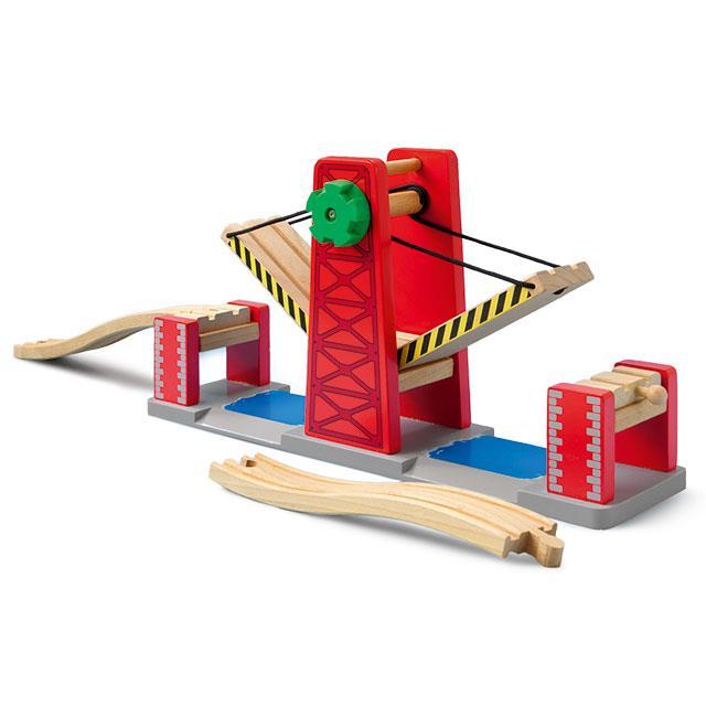 Holzeisenbahn Doppel Hebebrücke