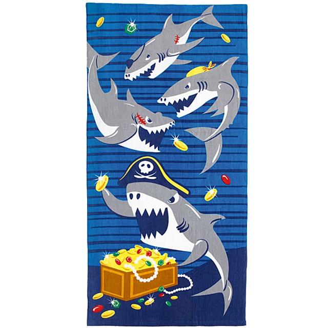 Piraten Sharki Badetuch
