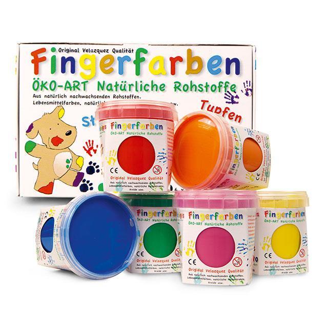 Fingerfarben 6tlg.