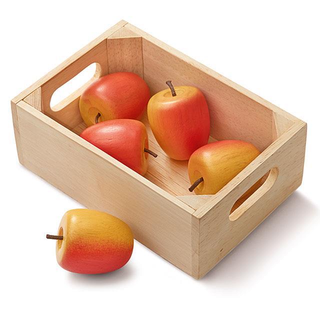 Holz Äpfel 6tlg.
