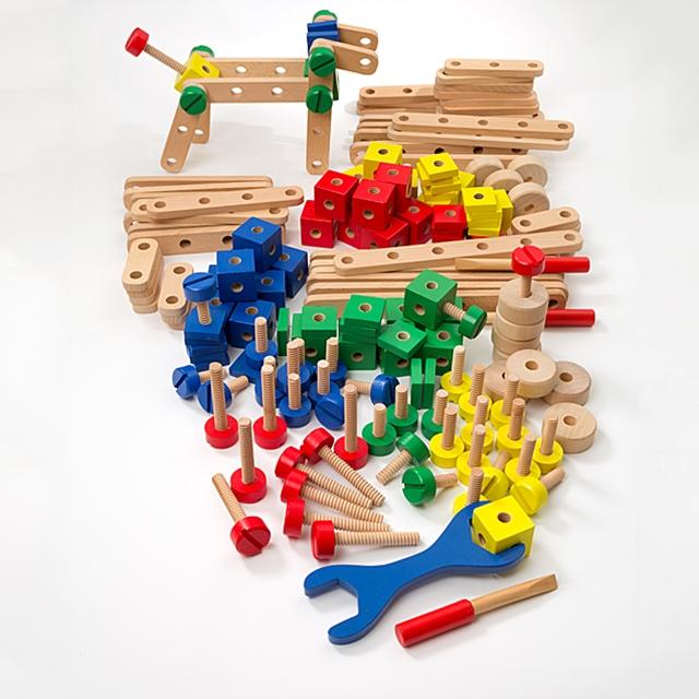 Kinder Kreativ Set Holz Bausatz 180tlg.